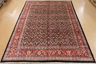11 x 14 PERSIAN MAHAL Tribal Hand Knotted Wool BLACK RED Oriental Rug Carpet