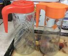 2 Vintage TANG Anchor Hocking Glass Pitchers 1960's