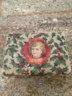 Antique Victorian child's sewing box kit