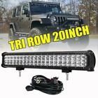 Tri-Row 20Inch 630W Led Light Bar For Jeep Wrangler JK TJ YJ Offroad 22