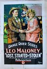 LOST STRAYED OR STOLEN US 1923 ONE SHEET POSTER LEO MALONEY SILENT FILM