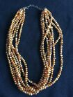 Silpada Copper Pearl .925 Sterling Silver 8 Strand Necklace N1366 Retired