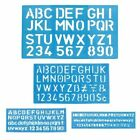 Alphabet Template Letters Numbers Small Capital Plastic Stencil Lower Uppercase