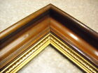 antique c1870 MAHOGANY AMERICAN VICTORIAN PICTURE FRAME GILT LINER 10