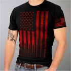 American Flag Bullets Cotton T Shirt Black