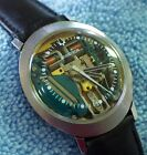 1970 BULOVA ACCUTRON SPACEVIEW  214 JUST SERVICED Stainless Oval Shaped