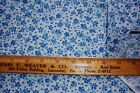 Vtg 1960's 1970's Calico Quilt Doll Dress Fabric 3 yards plus Blue