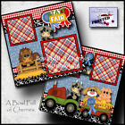 State Fair 2 premade scrapbook pages paper piecing layout printed 4H Cherry