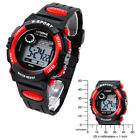 Hot Sale Electronic Kid's Wristwatches Cool Sport Outdoor Waterproof Watch Red