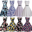 Vintage 50s Retro Style Rockabilly Pinup Housewife Party Swing Tea Dress