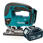 Makita 18v DJV180Z Cordless Jigsaw Li-Ion Body & 1x Makita BL1850 5.0Ah Battery