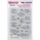Stampendous SSC1239 Perfectly Clear Stamps 4X6 Spring Sentiments