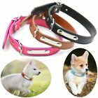 Kitty Metal Buckle Carving Pet Necklacce Dog Collar Soft PU Leather Anti Lose