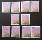 FLOWERS LILAC STAMPS for CRAFTS ART PROJECTS DECOUPAGE 10 TOTAL USED NO GUM