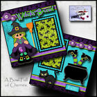Witches Brew 2 premade scrapbook pages paper piecing layout halloween Cherry