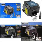 Portable Electric Winch Towing 12 V Volt Boat ATV Truck Trailer 6000 Remote Hook