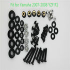 Complete Fairing Bolt Kit Body Screws Fasteners Fit for Yamaha YZF R1 2007 2008
