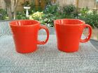 2 New Fiesta large tapered mugs -poppy color