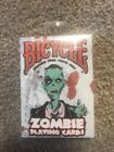 Zombie Playing Cards Original Sealed Bicycle Deck Zombie Free Since 1885 NIP