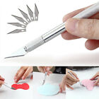 7 Piece Hobby Knife Set Exacto Style Razor for Model Making Crafts Mat Cutting