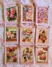 Set of 9 Hang Tags Vintage Seed Packet Scrapbook Cards Embellish Gift Tags 191