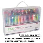Shuttle Art 260 Colors Gel Pens and Refills Set Adult Coloring Books Art Markers