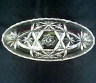 EAPC Early American Prescut 8.5x4 Oval Relish Celery Tray Dish Star of David