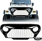 97 06 TJ JEEP WRANGLER GLADIATOR VADER Angry Bird Grill Gloss Black and White