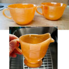 FIRE KING - Laurel Peach Lustre Footed Creamer - Orange - Vintage