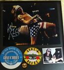 Axl Rose Guns n Roses GNR Signed framed autographed photo + 1 pick VIP PASS COA