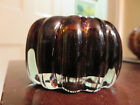 vintage blown glass paperweight signed GY 83 pumpkin gourd squash shape