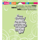 Stampendous CRH306 Cling Stamp 35X4 Delightful Birthday