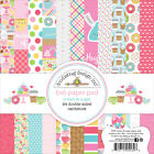 Doodlebug CAS5530 Double Sided Paper Pad 6X6 24 Pkg Cream  Sugar