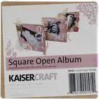 Beyond The Page MDF Square Open Album 35X35 W 5 Accordion Pages 3 Pack