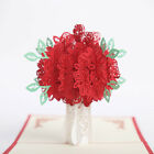 Handmade 3D Pop Up Greeting Card Rose Flower Valentine Birthday Anniversary Gift