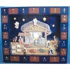 J3767 Wooden Nativity Advent Calendar With 24 Magnetic Piece