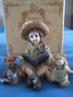 BOYD BEAR DOLLSTONE COLLECTION-JULIA W/ EMMY LOU & DAPHNE...GARDEN FRIENDS