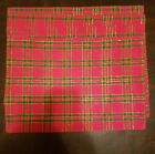 Home Collection Plaid Fabric Christams Placemat Set of 4