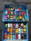 Vintage Matchbox Cars Trucks 48 Cars in Matchbox Carry Case