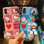 Cartoon Cute Hello Kitty Jingle cat Shockproof Case Cover For iPhone Xs Max 5s 8