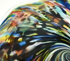 15 HAND BLOWN GLASS ART WALL TABLE PLATTER DIRWOOD END OF DAY BLACK GOLD MOR
