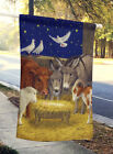 Nativity Scene with just animals Flag Canvas House Size
