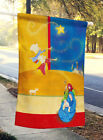 Contemporary Nativity Christmas Flag Canvas House Size