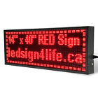 40x14 Led Sign Programmable Scrolling For Semi Outdoor And Window