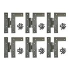 6 Left HL-Hinges Black Wrought Iron Offset Install Set of 6 | Renovator's Supply