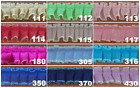 1 BOX PLEATED ORGANZA SEWN ON TOP IRIDESCENT EDGES FREE SHIPPING USA