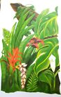 Tatouage Jungle Greenery 1 with red flowers Dry rub Transfer