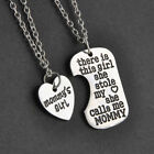 Mothers Day Gift Necklace Mommy Girl Daughter Mom Mother Chain 2 Pieces