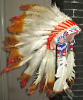 1950s CHILDS INDIAN FEATHER HEADDRESS BEADED LOINCLOTH NATIVE AMERICAN COSTUME