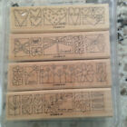 Stampin Up A Little Bit of Happiness Retired set 4 Hearts Flowers Leaves